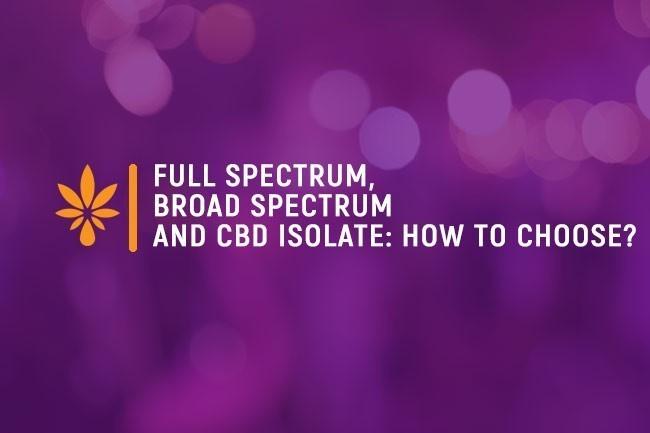 Full Spectrum, Broad Spectrum and CBD Isolate