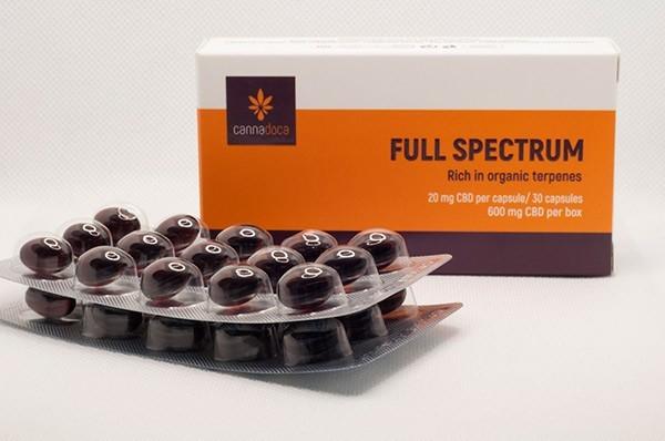 CBD full spectrum capsules 600 mg